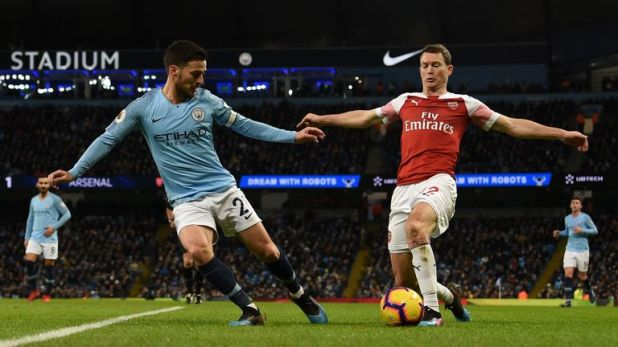 Stephan Lichtsteiner suffered a torrid day against Manchester City