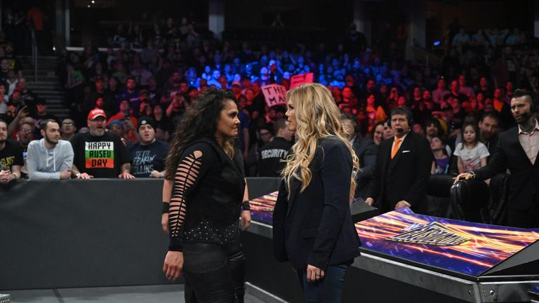 Beth Phoenix found herself involved in the post-match angle following the WWE women' tag title match