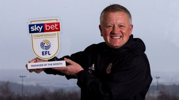 Chris Wilder is the Sky Bet Championship Manager of the Month for February