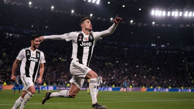 Cristiano Ronaldo scored a hat-trick to get Juventus past Atletico in the last 16