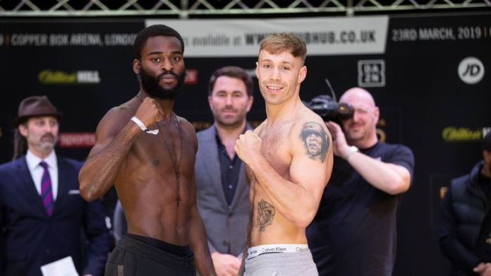Joshua Buatsi and Liam Conroy contest the belt of Lonsdale