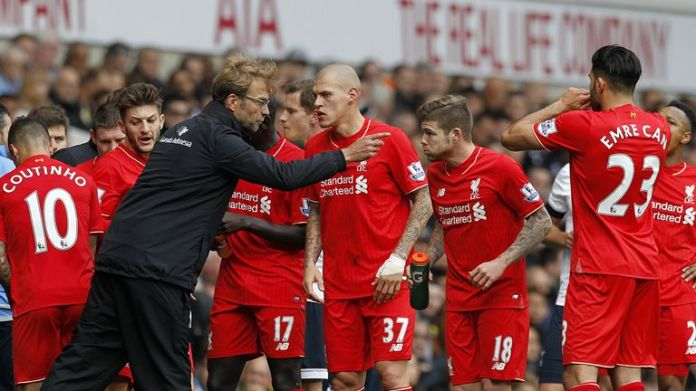 Martin Skrtel was part of Liverpool's defense during Klopp's first game