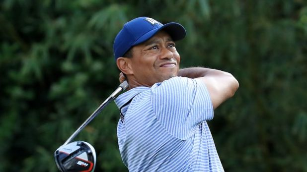 Woods is safely through to the weekend at Sawgrass