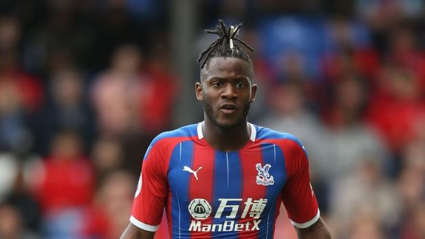 Michy Batshuayi and his Crystal Palace team-mates wore the club's new home kit against Bournemouth on the final day of 2018/19