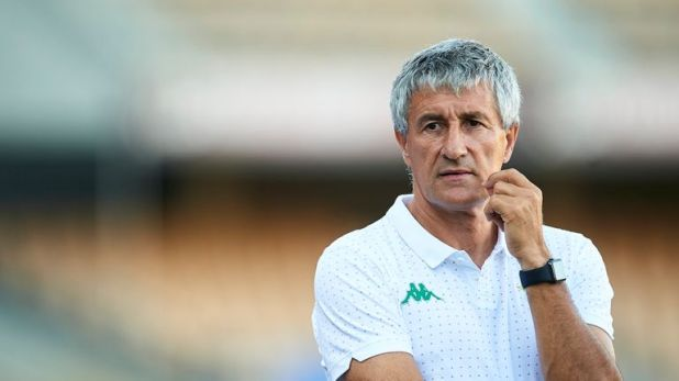 Quique Setien was in charge at Real Betis for two seasons