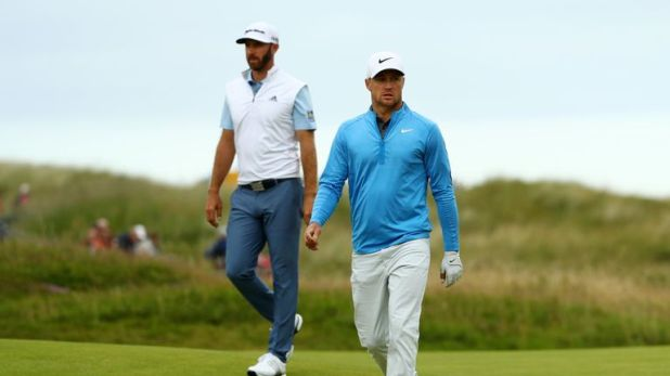Dustin Johnson and Alex Noren played in a two-ball in the third round