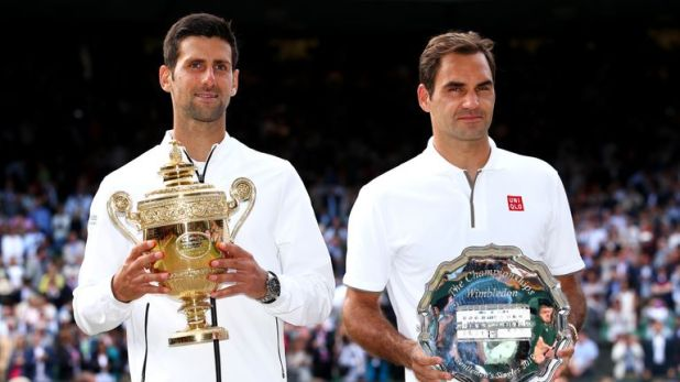 Djokovic eventually prevailed against Federer on Centre Court