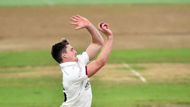 Somerset's Tom Abell took four wickets against Warwickshire