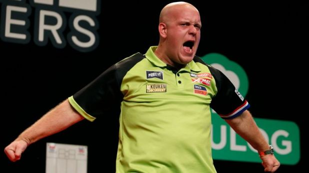 Van Gerwen proved too strong, winning five successive legs to storm to the title after the first six legs were shared
