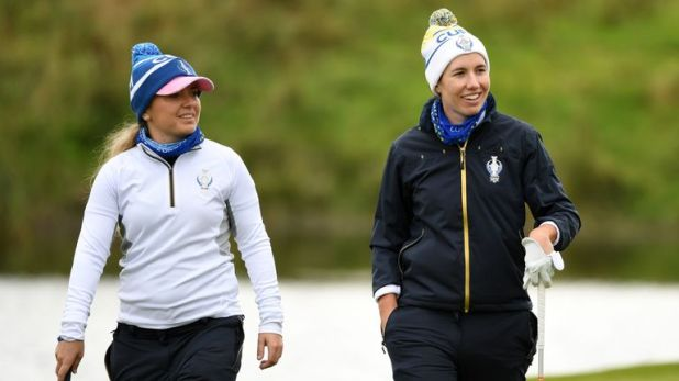 Bronte Law and Carlota Ciganda go out in the opening match for Team Europe