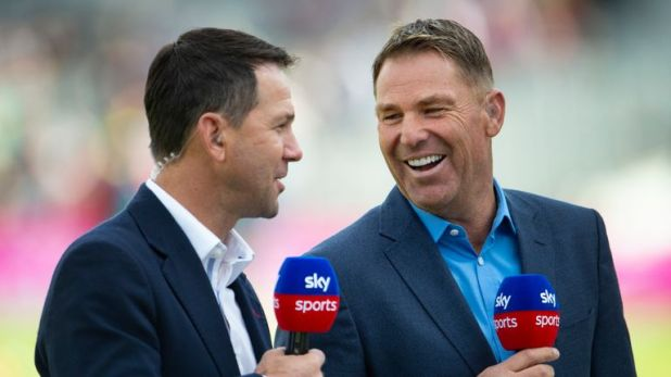 Shane Warne brought up his half century  as he celebrated his 50th birthday on day two of the fifth Ashes Test