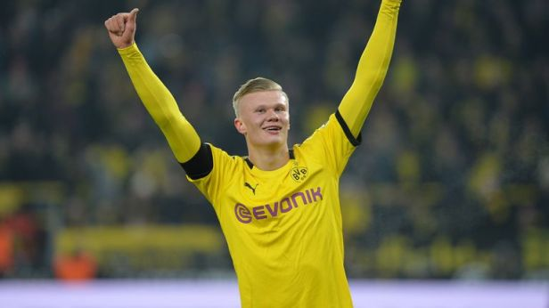 Erling Haaland has scored seven goals in three games for Borussia Dortmund