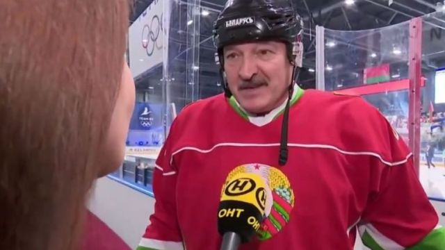 President Alexander Lukashenko took part in a game of ice hockey this weekend