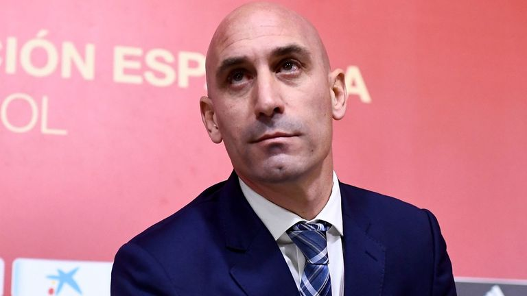 Spanish Football Federation president Luis Rubiales