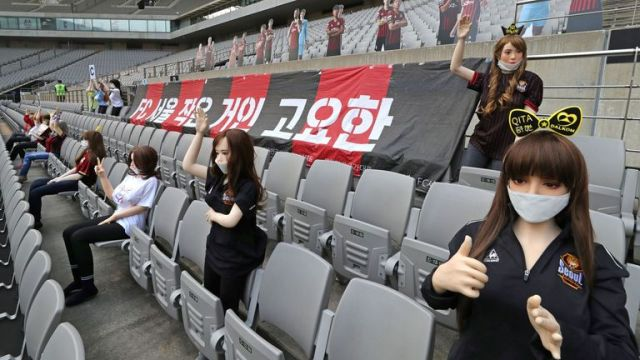 FC Seoul filled empty seats with mannequins provided by Dalkom, a company which does manufacture sex dolls