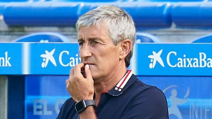 Barcelona manager Quique Setien says now is not the time to discuss his future