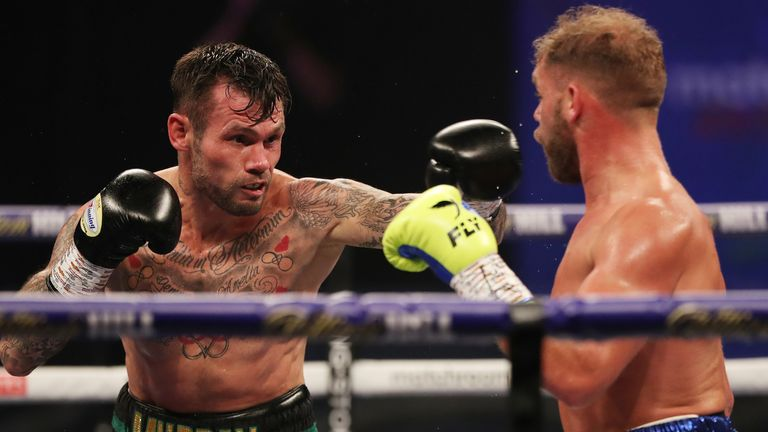 Murray was a gallant loser against Billy Joe Saunders  earlier this month (Pic: Matchroom Boxing)