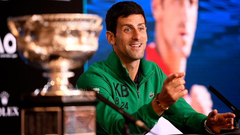 Novak Djokovic will be aiming to win his ninth Australian Open title and third in a row next month