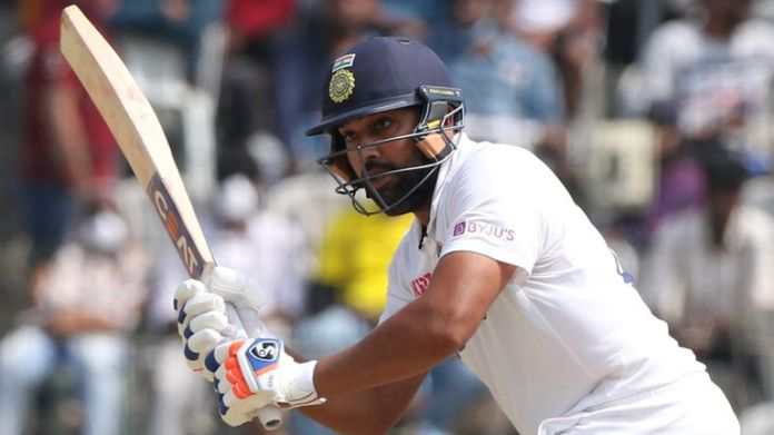Rohit Sharma scored a century against England in the second Test in Chennai (Pic credit - BCCI)