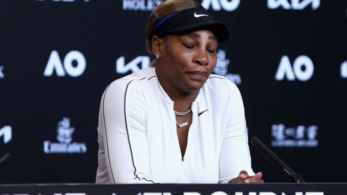 Williams made a tearful exit from the Australian Open, where she abruptly left her final press conference after a lingering wave to Rod Laver Arena