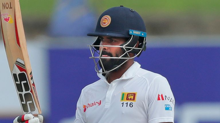 Lahiru Thirimanne scored a half century at the top of the order for Sri Lanka on day two against the West Indies