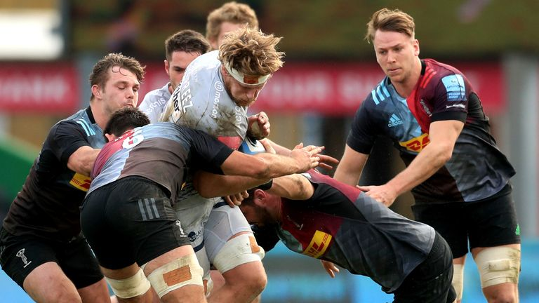Harlequins beat Sale when the sides met at the Stoop in February