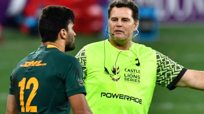 South Africa director of rugby Rassie Erasmus was scathing of the referee after the British and Irish Lions' win in the first Test
