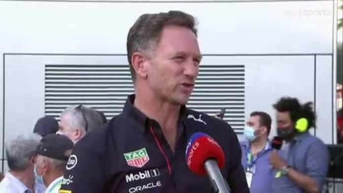 Red Bull team principal Christian Horner was thrilled as Max Verstappen secured the team's first pole position at the Italian Grand Prix in the hybrid era
