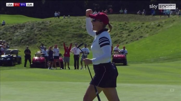 Kupcho completed a positive morning for Team USA by holing a lengthy putt to secure victory