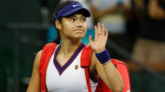 Raducanu lost to Alaksandra Sasnovich at the BNP Paribas Open