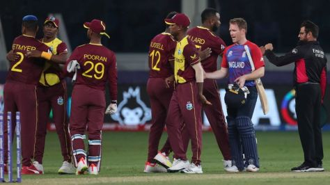 West Indies play South Africa next on Tuesday