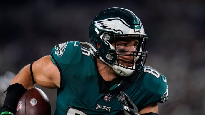Philadelphia Eagles tight end Zach Ertz is in line for an increased role this week in the absence of Dallas Goedert