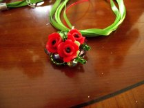 Red green flowers