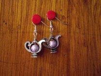 Lilac Teapot Earrings