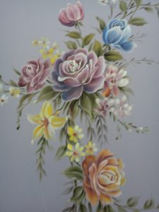 rose flowers painting design for fabric