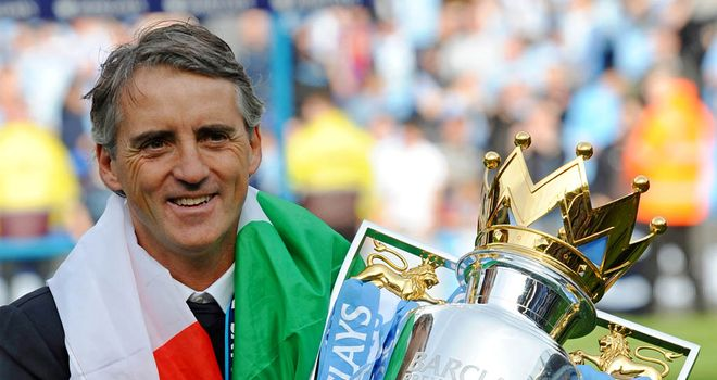 Roberto Mancini: Hoping to get his hands on silverware once again in 2012/13