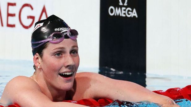 Missy Franklin holds the world record in the 200-metre backstroke
