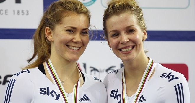 Jess Varnish, left, and Becky James won Britain's first medal of the world championships