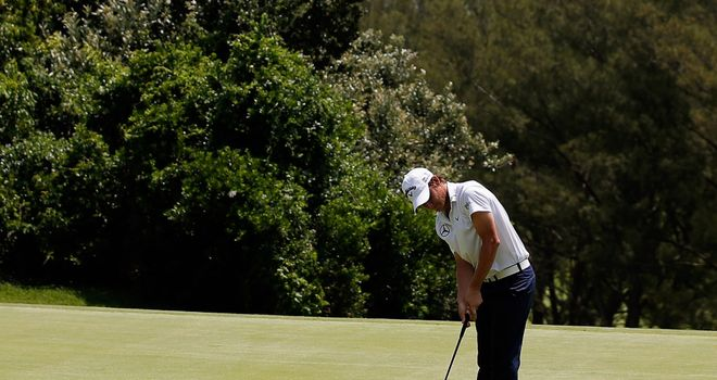 Emiliano Grillo sinks another putt during his third round 62