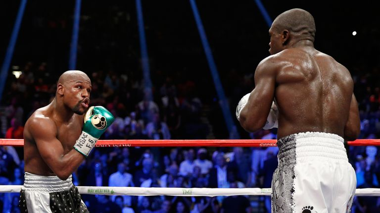 Mayweather and Berto taunted each other