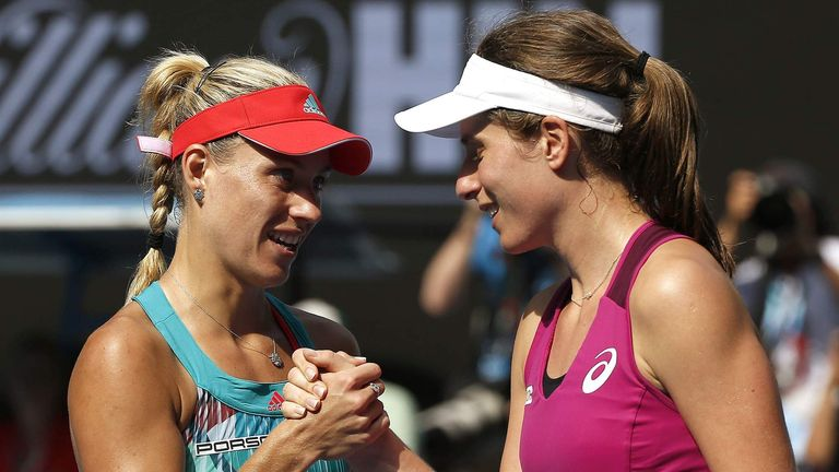 Image result for Johanna Konta vs Angelique Kerber
