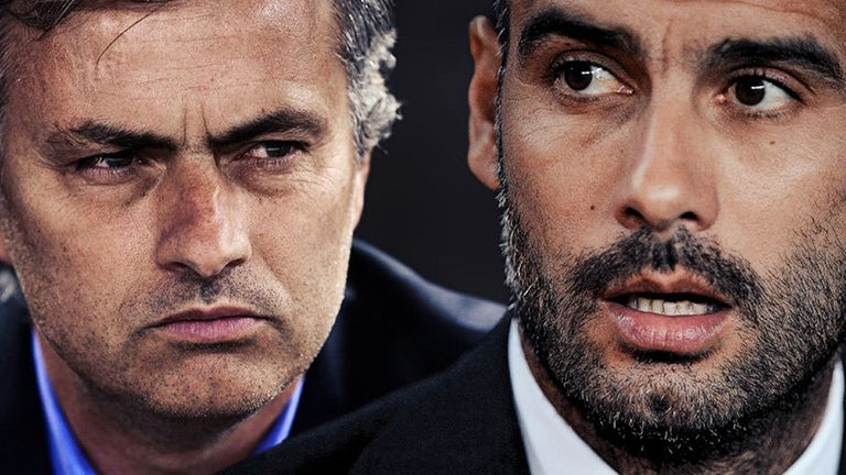 Image result for guardiola and mourinho