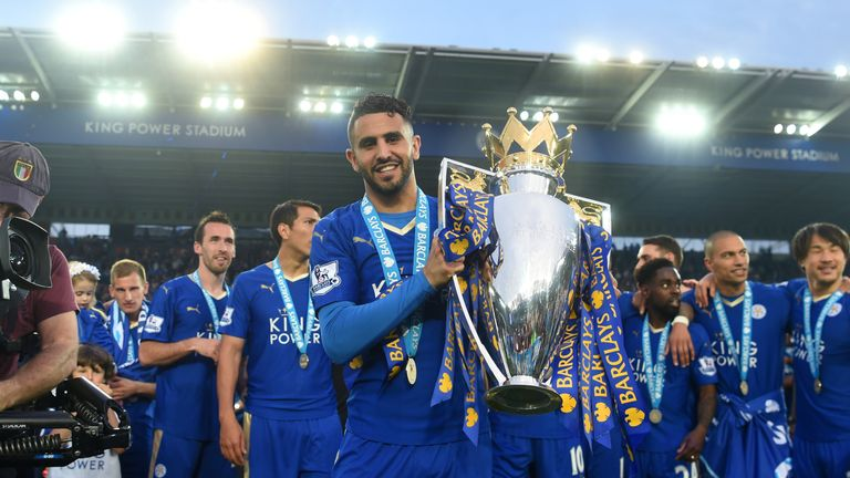 Mahrez signed a new deal to keep him at Leicester until 2020