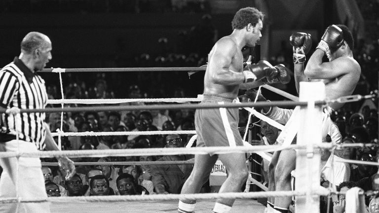 Muhammad Ali's patience and precise shots took care of George Foreman