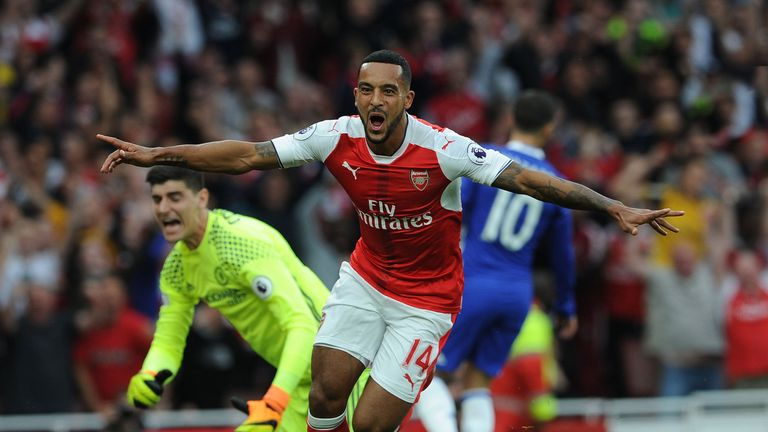 Walcott has scored five goals in eight appearances for Arsenal so far this term