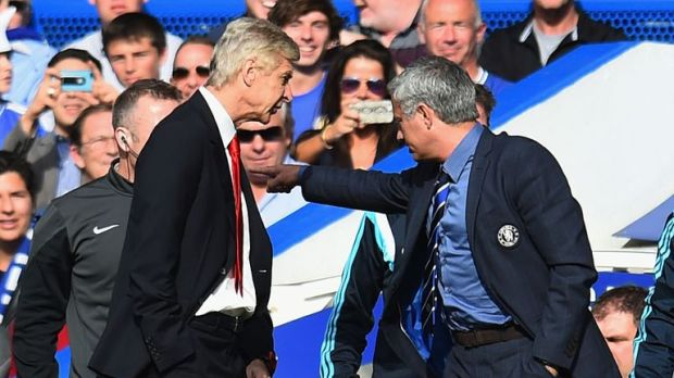 Wenger clashed with Mourinho at Stamford Bridge last season