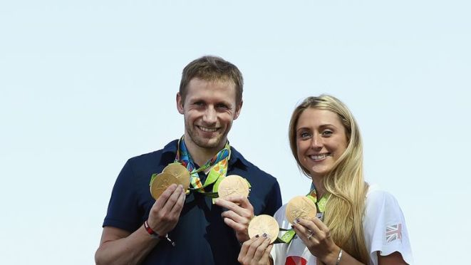Jason and Laura Kenny were also multiple gold medal winners in Brazil