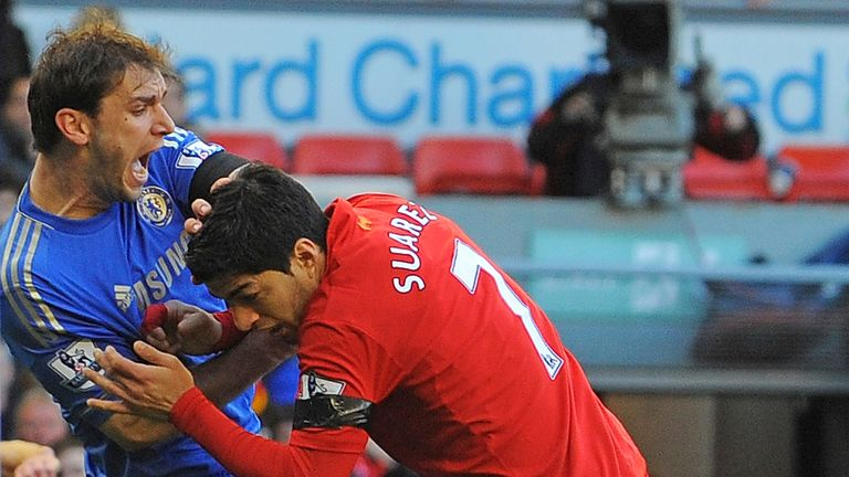 Suarez was halfway through a 10-game ban to bite Chelsea's Branislav Ivanovic before attempting to force his exit from Anfield