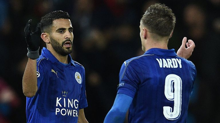 Riyad Mahrez and Jamie Vardy were voted seventh and eighth respectively