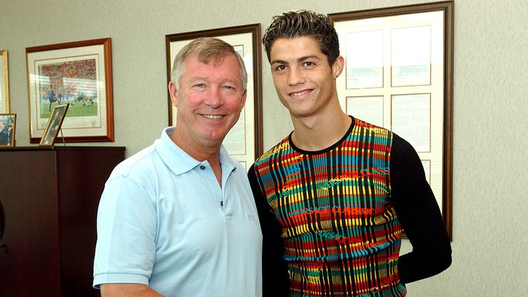 Ronaldo signed for United five days after the friendly